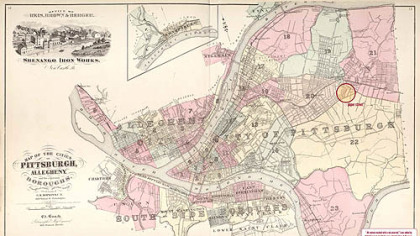 1872 map of Pittsburgh.
