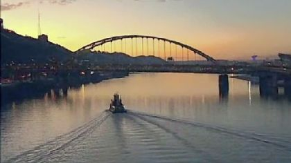 The Monongahela River at sunset is among the shots on the WQED documentary &quot;Pittsburgh From the Air II.&quot;