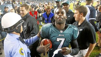 Stopping Eagles quarterback Michael Vick is easier said than done, even though he has thrown only four touchdown passes while tossing six interceptions.