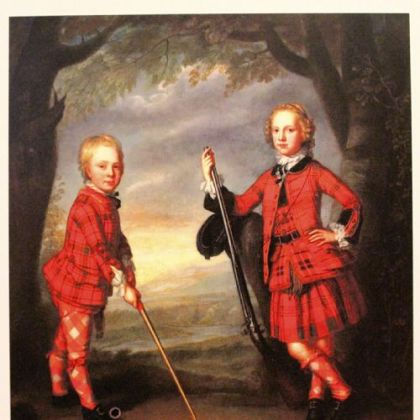 Sir James Macdonald and Sir Alexander Macdonald by William Mossman, an oil on canvas at the Scottish National Portrait Gallery.