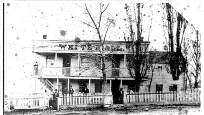The former White Hall Tavern in Brentwood in the 1800s, home of the John F. Slater Funeral Home for 75 years.