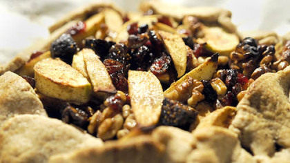 Crostata with apples, figs, cranberries and walnuts prepared by Father Sam Esposito.
