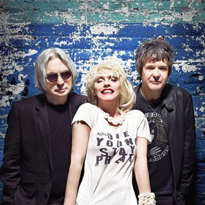 Blondie -- Chris Stein, left, Debbie Harry and Clem Burke.