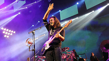 Geddy Lee, performing night at Consol Energy Center last month, and his Rush bandmates are nominees for the Rock and Roll Hall of Fame.