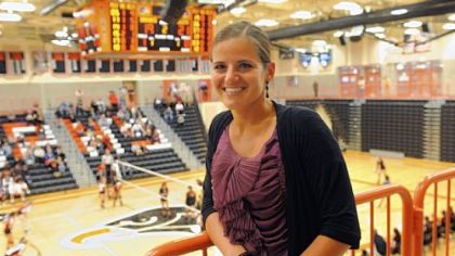 Amy Scheuneman, 32, is in her seventh year as athletic director at Bethel Park High School, which recently opened its new gymnasium.