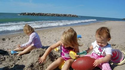 Children can while away hours in the sand at Presque Isle.