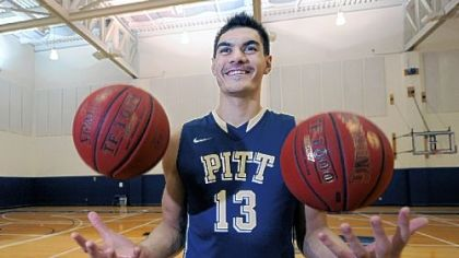 Steven Adams, a 7-foot freshman center from New Zealand, prepares for Pitt's upcoming basketball season.