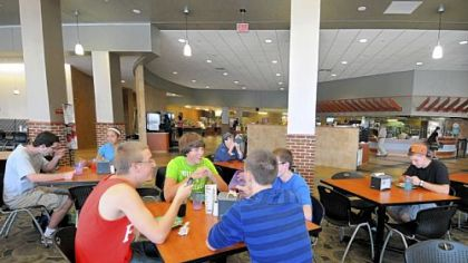 Shippensburg University's Reisner Dining Hall was renovated and expanded to change the schools' college dining experience. Students now make their way through a hub of stations with a variety of freshly prepared foods in an open atmosphere.