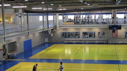 Clarion University&#039;s multi-purpose Student Recreation Center includes basketball courts, rock climbing wall and weight room, and inside track and elliptical machines.