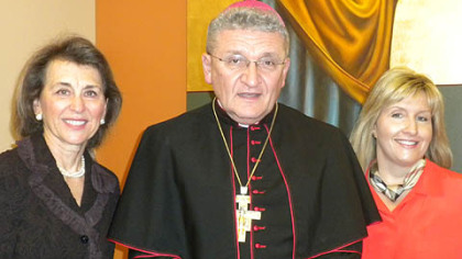 Diana Bills, Bishop David Zubik and Renee Cunningham
