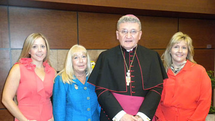Jan Kubiska, Patty Orringer, Bishop David Zubik and Renee Cunningham