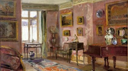 """The Parlor"" by Walter Gay is part of the exhibition ""Impressions of Interiors: Gilded Age Paintings by Walter Gay"" at The Frick Art Museum."