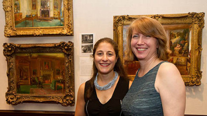 Curators Isabel Taube and Sarah Hall