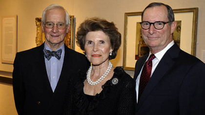 David and Ann Genter and Frick director Bill Bodine