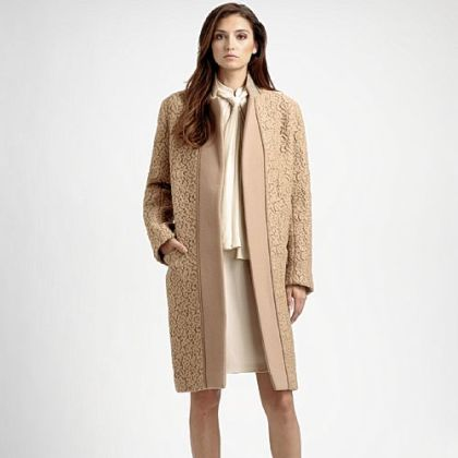 Chloe lace coat, $2,995 at Saks Fifth Avenue or www.saksfifthavenue.com.
