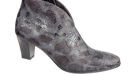 Ara Tala snake-printed leather bootie, $194.95 at www.thewalkingcompany.com