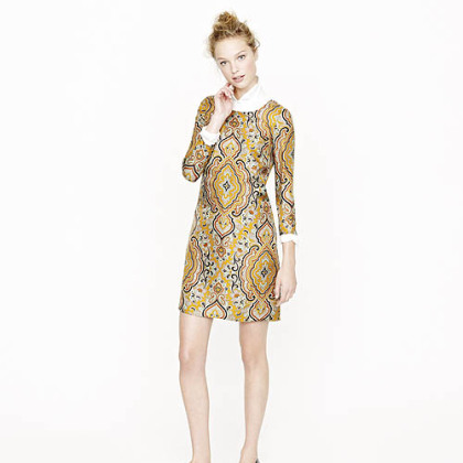 Jules dress in Italian paisley, $228 at J.Crew or www.jcrew.com.