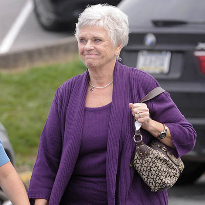 Dottie Sandusky arrives at the Centre County Courthouse.