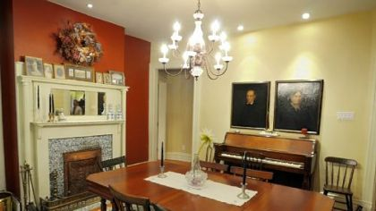Dining room of the home of Ty and Sue Ely.