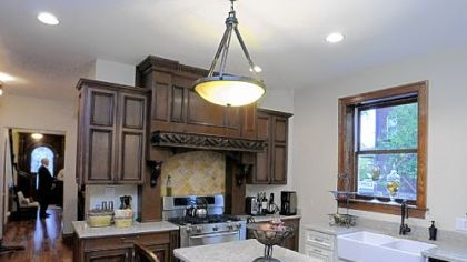 Kitchen of Mark and Mary Pent&#039;s home in Shadyside.