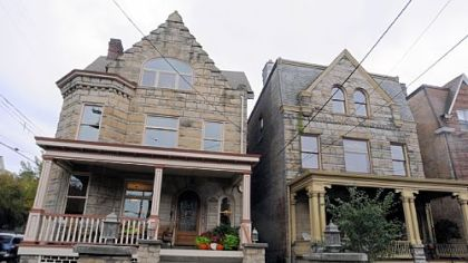 The Shadyside House Tour includes the Pents&#039; house on the left and Ty and Sue Elys&#039; house on the right.