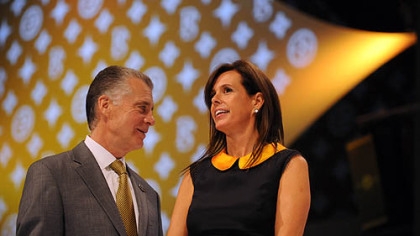 Art Rooney II and wife, Greta.