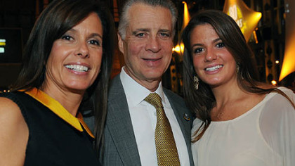 Greta and Art Rooney II with daughter Mary Greta
