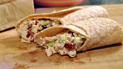 Super Crunch Apple-Cranberry Tuna Wrap