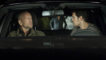 "Bruce Willis, left, and Henry Cavill don't see eye-to-eye in ""The Cold Light of Day."""