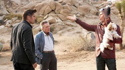 "Colin Farrell, Christopher Walken and Sam Rockwell pick up the wrong dog in the black comedy ""Seven Psychopaths."