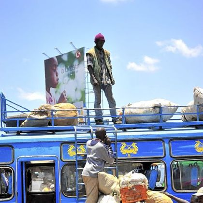 Buses such as this are heavily used by people in Kenya to travel throughout the nation, in the process creating routes for disease transmission.