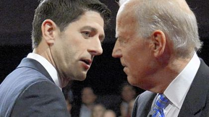 It was the only debate of this election season between Joe Biden, right, and Paul Ryan.