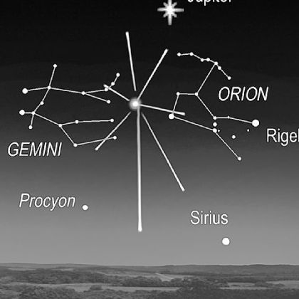 Orionid meteor shower, which peaks on Sunday morning.