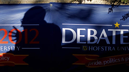 The scene of the second presidential debate of the 2012 campaign, at Hofstra University in New York.