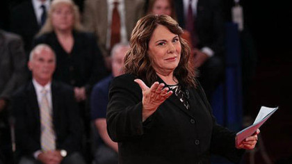 Moderator Candy Crowley speaks at the start of the debate.