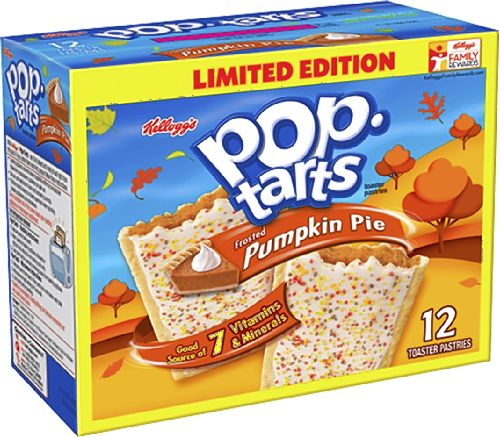 Kelloggaposs PopTarts  Pumpkin Pie Limited Edition  12 Toaster Pastries 211oz Box