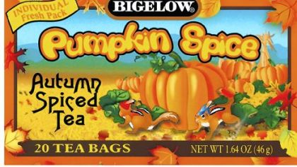 Bigelow Pumpkin Spice Tea Autumn Spiced Tea.