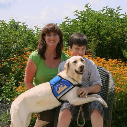 Julie and Joseph Leckenby with Inga IV at their August 2010 graduation from Canine Companions for Independence in Delaware, Ohio.