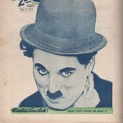 Charlie Chaplin's iconic image was used to sell millions of magazines, toys, song sheets and every imaginable kind of novelty item in the first half of the 20th century.