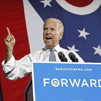 Vice President Joe Biden speaks during a campaign rally Monday at Lorain High School in Lorain, Ohio.