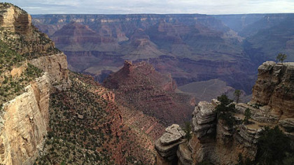 A breath-taking view of the Grand Canyon.