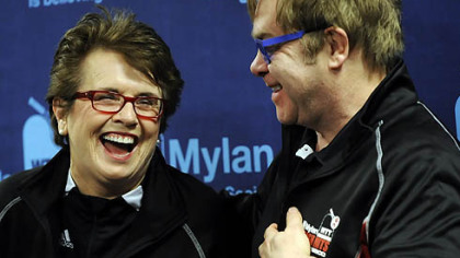Billie Jean King and Sir Elton John