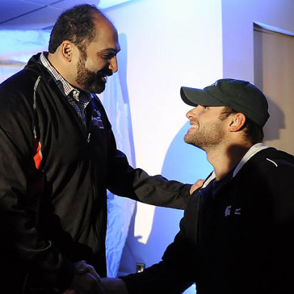Franco Harris and Andy Roddick