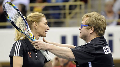 Stefanie Graf and Sir Elton John