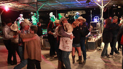 Two-Stepping the last night of the chili festival.