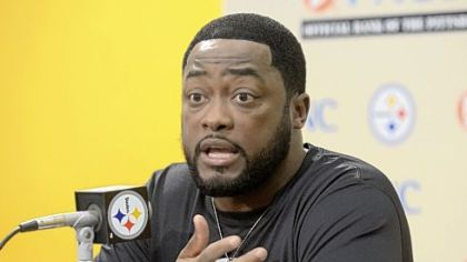 Steelers coach Mike Tomlin praised the play of rookie tackle Mike Adams at his weekly news conference Tuesday.