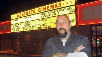 "Cristos premiered his new movie, ""Tunnel Vision,"" in his hometown of New Castle earlier this month."