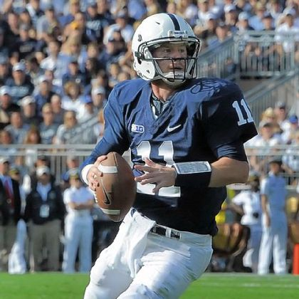 "Penn State quarterback Matt McGloin leads a fast-paced, no-huddle offense the Nittany Lions have dubbed ""NASCAR."""
