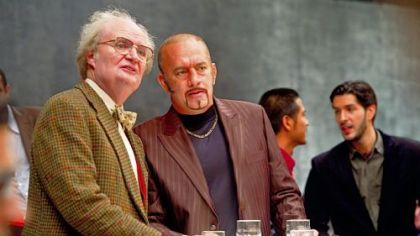 Jim Broadbent as Timothy Cavendish and Tom Hanks as Dermot Hoggins in 'Cloud Atlas.'