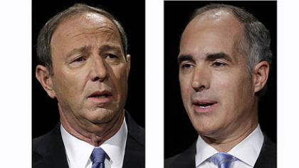 Republican challenger Tom Smith and Democratic Sen. Bob Casey